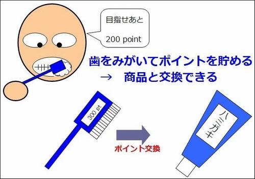 ポイントが貯まる歯ブラシ